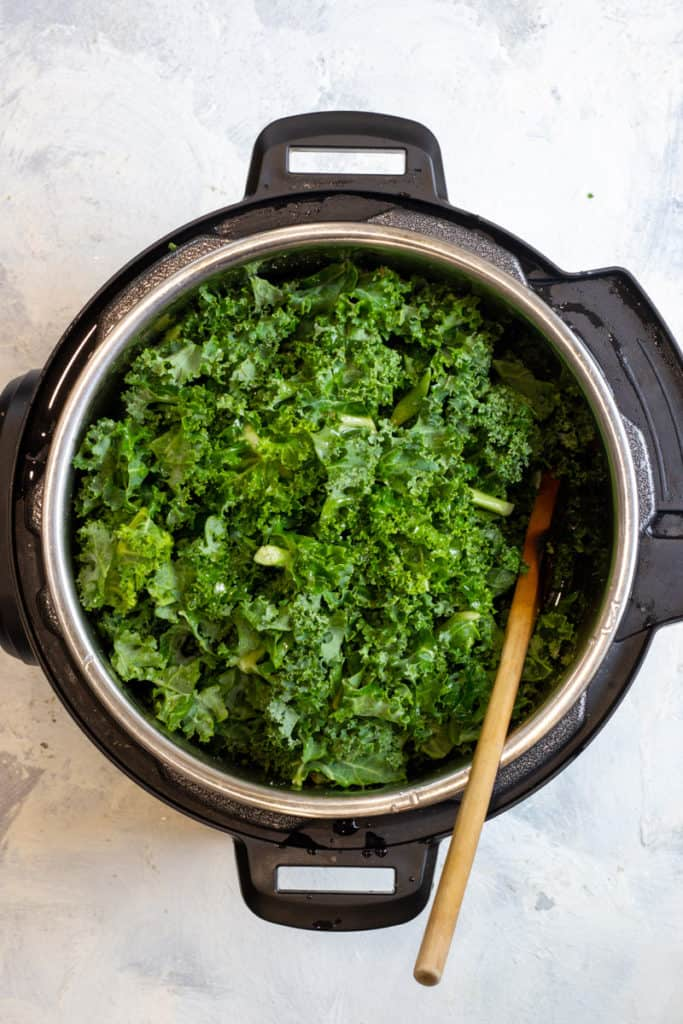 Add the Kale + Broth