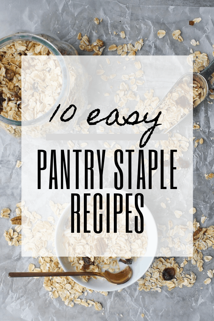 These pantry recipes use mainly shelf-stable pantry staples. These recipes are perfect for cleaning out your pantry, or can be kept with your emergency food supply for shelter in place meals.