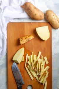 Cut Sweet Potatoes Into Long Thin Strips