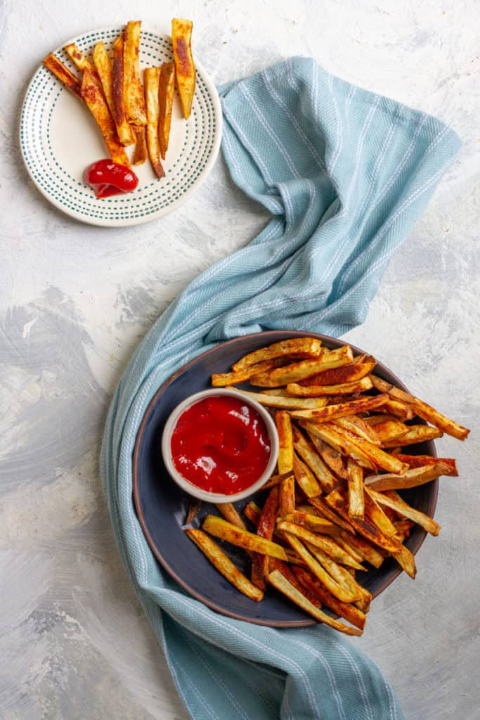 White Sweet Potato Fries in a serving dish