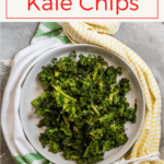 These healthy baked kale chips are quick and easy to make at home, and are a delicious (and surprisingly addictive) snack food!