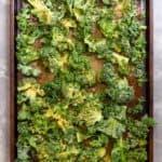 Toss Kale in Oil + Seasoning