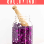Love sauerkraut? This red cabbage sauerkraut is an easy lacto-fermentation recipe. All you need is red cabbage, salt, a glass jar, and a little time.