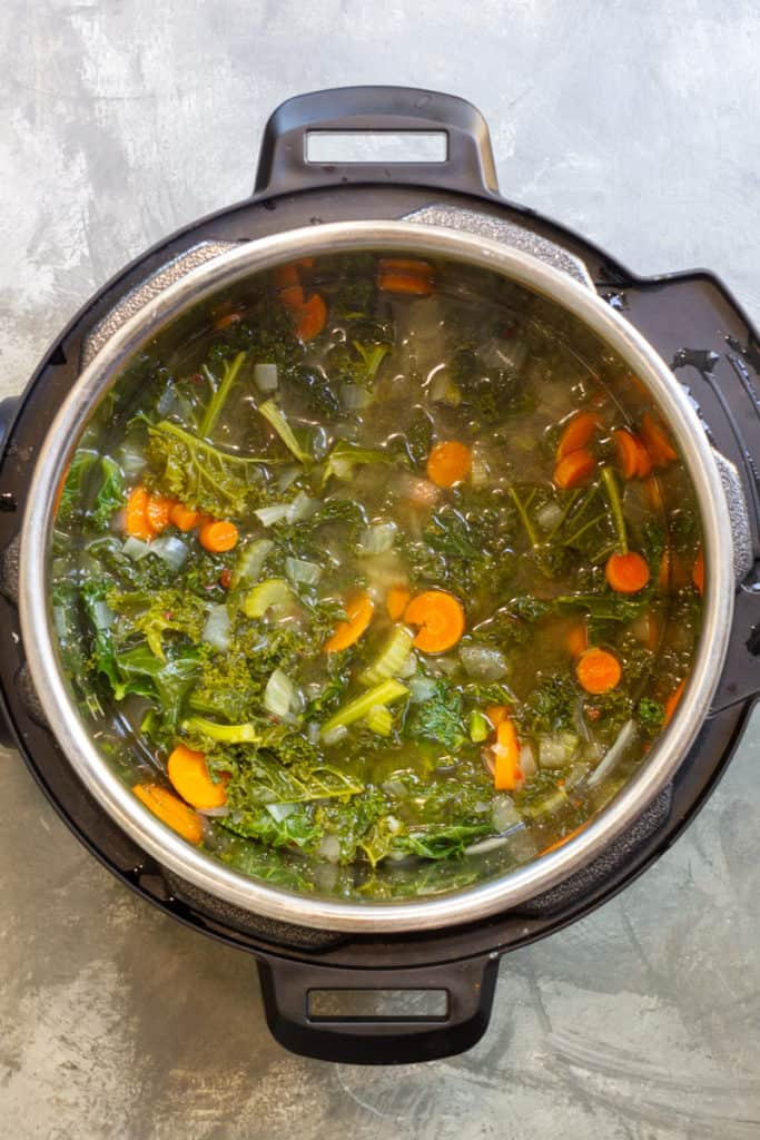 Stir to finish wilting the kale