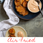 Love fried pickles? These healthier air fried pickles are coated with seasoned breadcrumbs, and are easy to make at home in your Instant Pot Air Fryer.