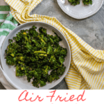 These easy air fryer kale chips are delicious, quick and easy! Make them at home in your Instant Pot Air Fryer for a healthy snack.