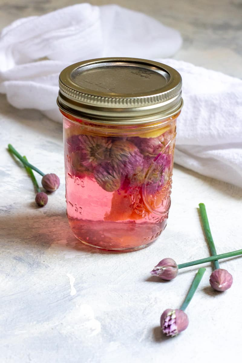 Infused Chive Blossom Vinegar
