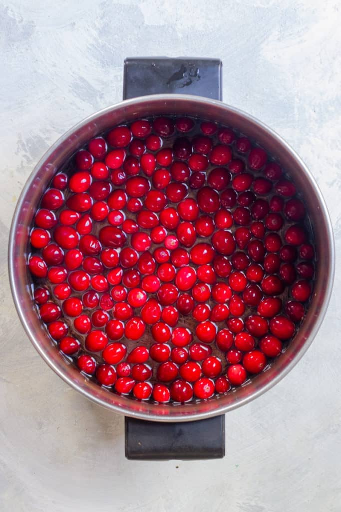 Bring Cranberries + Water to a Boil
