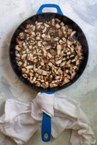 Add Diced Mushrooms to a Pan