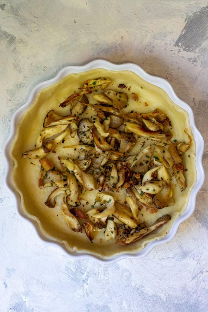 Add Cooked Mushrooms To Pie Dough