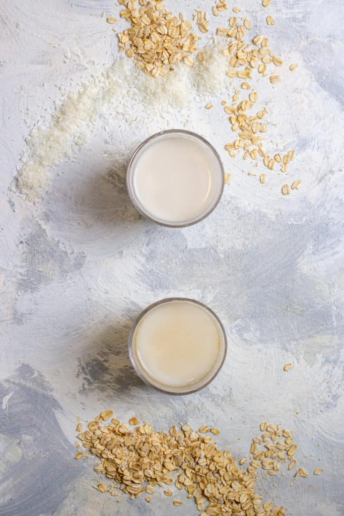 Oat Coconut Milk (Top) + Oat Milk (Bottom)