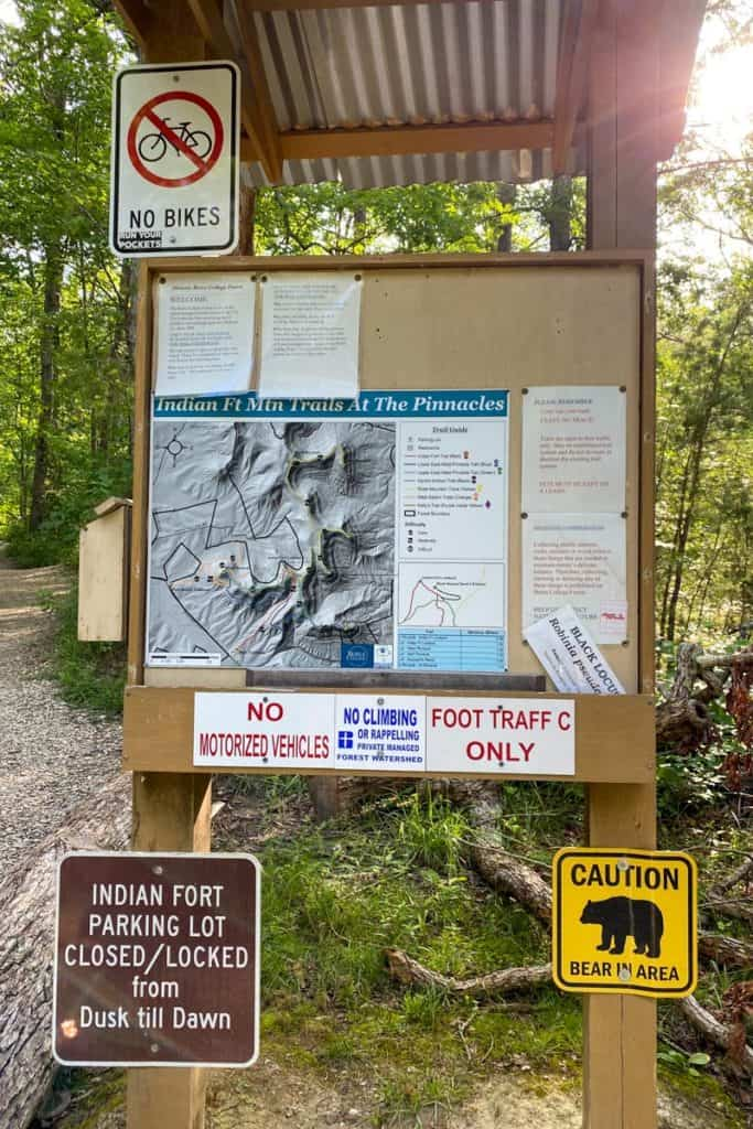Pinnacles Trail Information Board