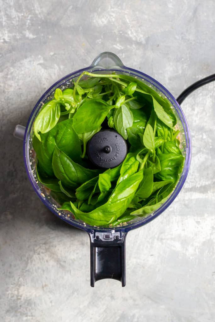 Add Basil to the Food Processor