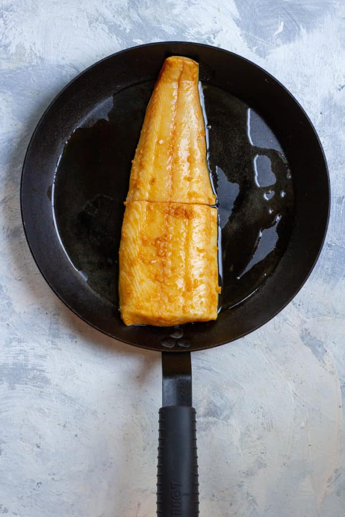 Add Fish to a Oven-Safe Pan + Bake