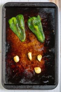 Peel the Poblano + Garlic