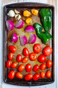 Place Veggies on a Baking Sheet for Roasting