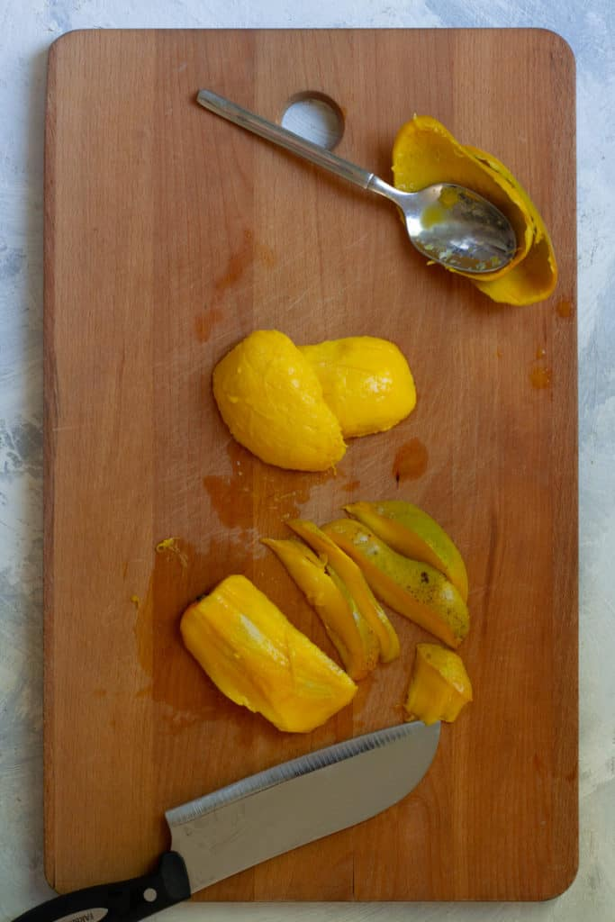 Cut Mango Off the Stone