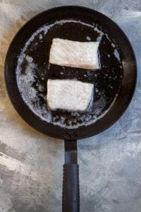 Heat Butter + Oil + Add Fish