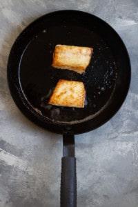 Cook Halibut Until Golden + Flaky