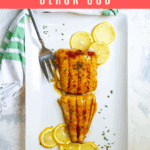 This easy black cod (or sablefish) recipe is made by marinating fish in homemade teriyaki sauce and baking it until it's tender and flaky.