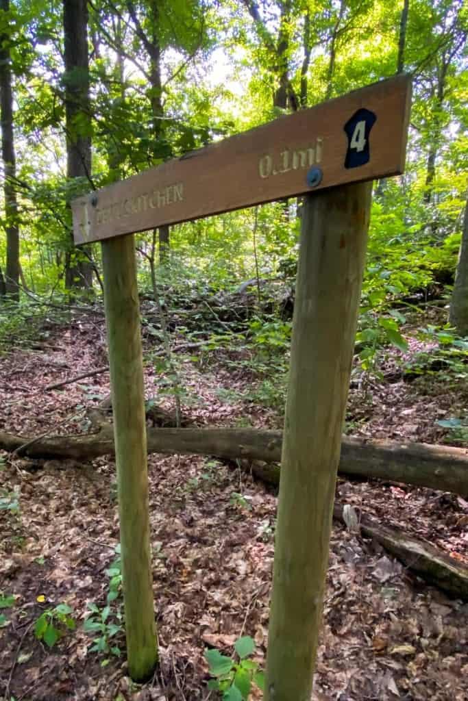 Trail Marker for Devil's Kitchen