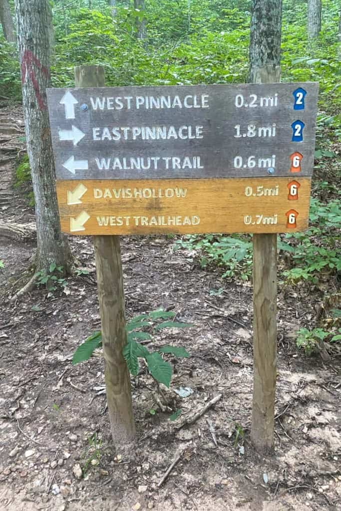 Follow Trail Sign to West Pinnacle