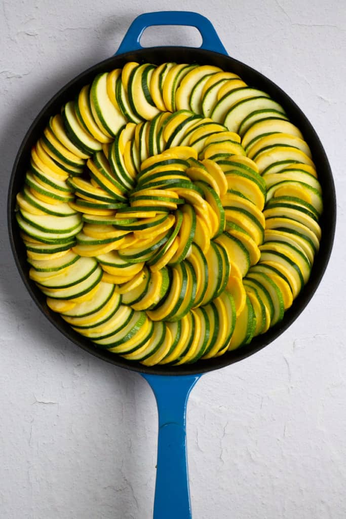 Finish Layering Zucchini + Squash Concentrically