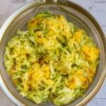 Salt Zucchini in a Mesh Sieve
