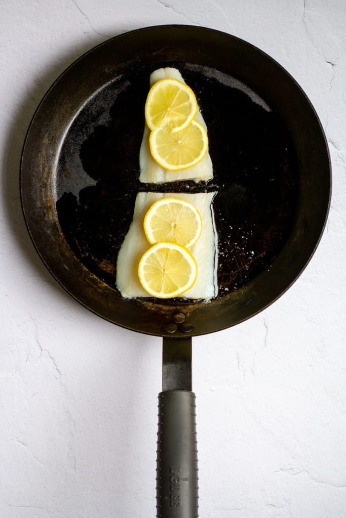 Add Lingcod to Oven-Safe Pan