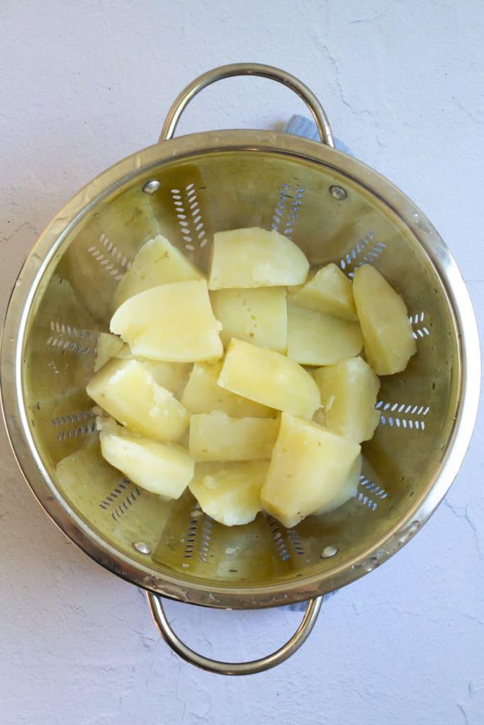 Boil Potatoes Until Tender + Drain