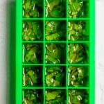 Add Basil + Oil to Silicone Tray