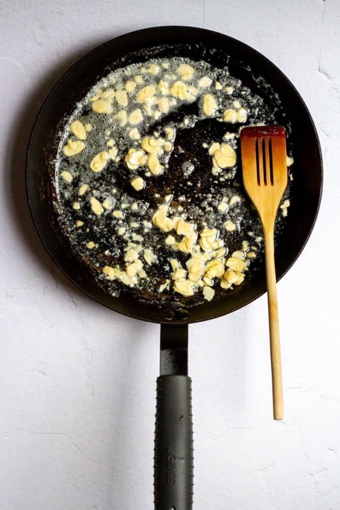 Melt Butter + Add Almonds