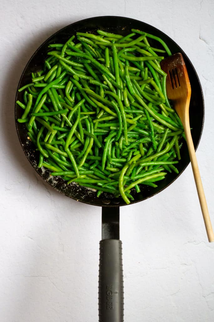 Add Green Beans to Pan