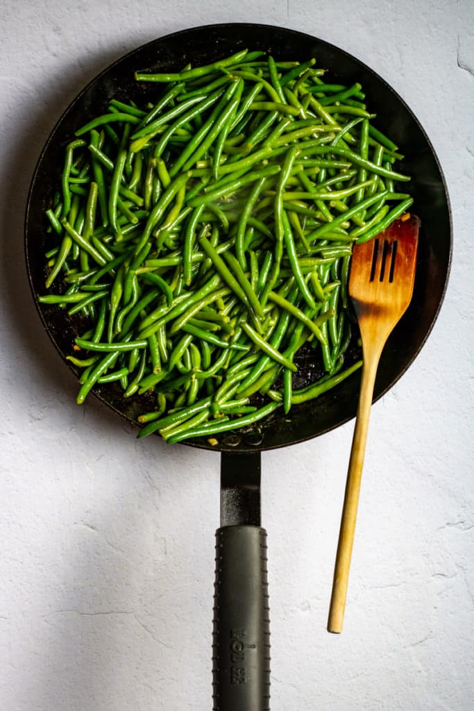 Sear Beans in the Pan