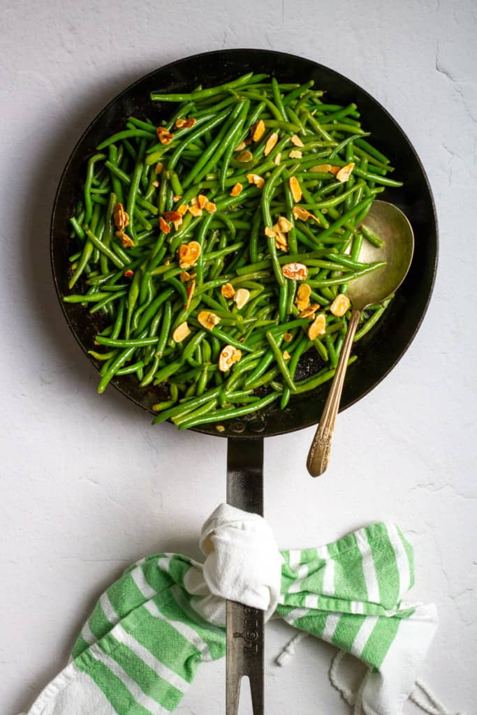 Serve Beans with Almonds