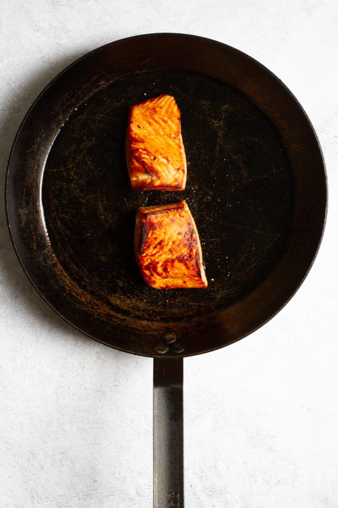 Broil Salmon Until Opaque + Tender