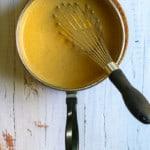 Thicken Milk Mixture with Cornstarch + Add Pumpkin Mixture