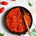 San marzano sauce in a pan