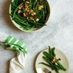Hericot vert salad in a bowl
