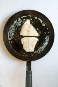 Add Fish to the Hot Pan