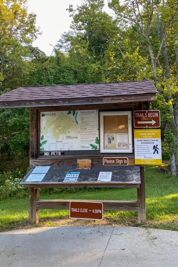Raven Run Trail Information Board