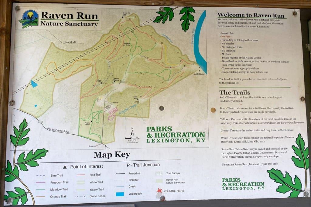 Raven Run Trail Map