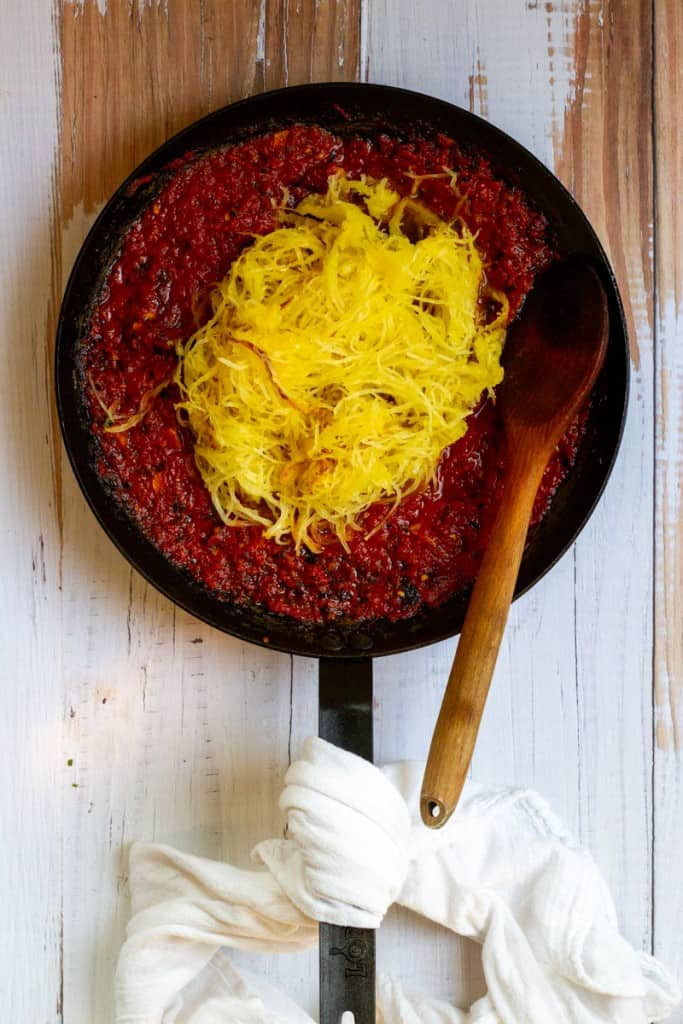 Add Spaghetti Squash to Marinara