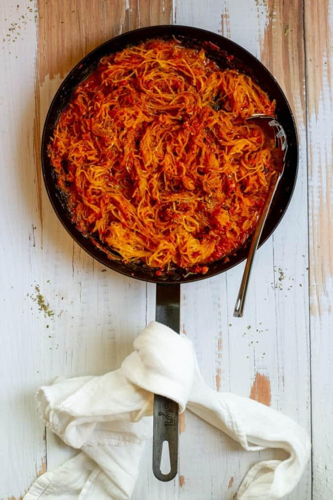 Toss Spaghetti Squash in Marinara