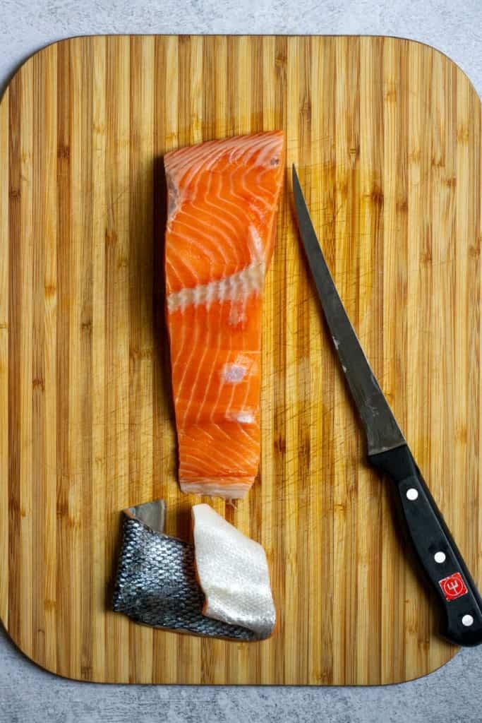 Remove Salmon Skin