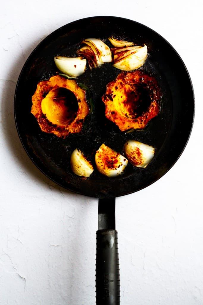 Roast Acorn Squash + Onion