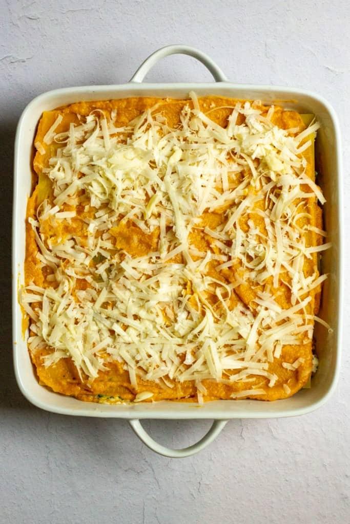 Top with Sauce + Mozzarella