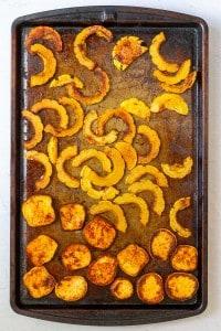 Roast Delicata Squash + Sweet Potato Until Tender