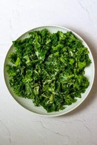 Toss Kale with Tahini Dressing