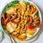Arrange Delicata Salad + Serve